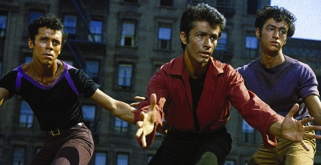 George Chakiris (centre) in West Side Story