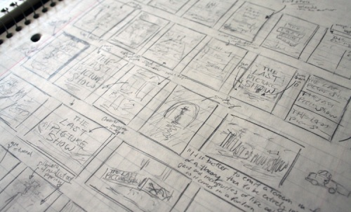 Brandon's initial sketches for The Last Picture Show