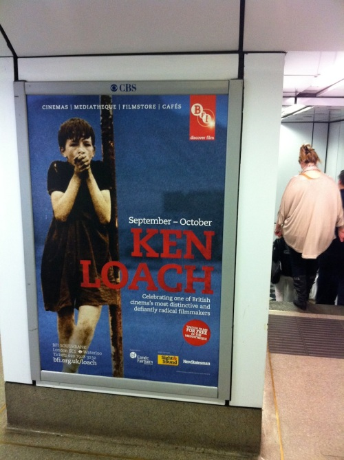 Ken Loach/Kes poster on the London Underground