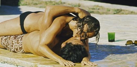 Romy Schneider and Alain Delon in La Piscine