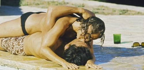 Romy Schneider and Alain Delon in La Piscine
