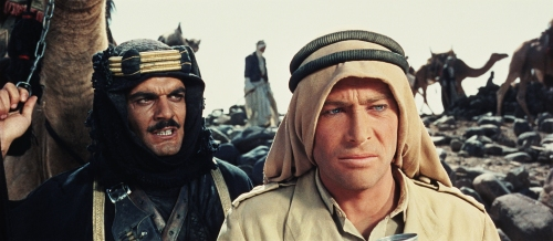 Omar Sharif and Peter O'Toole in Lawrence of Arabia